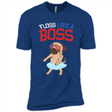 Floss Like A Boss Dance Shirt Pit Pug Flossing Dog 4th Of July