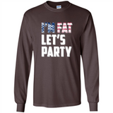 I'm Fat Let's Party America Flag