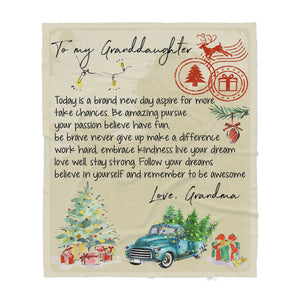 Blanket Christmas Gift Ideas for Granddaughter From Grandma Letter to Granddaughter Today Is A Brand New Day Sherpa Blanket