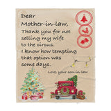 Blanket Christmas Gift ideas for Mother in Law from Son in Law not Selling my Wife to the Circus 20121107 - Sherpa Blanket