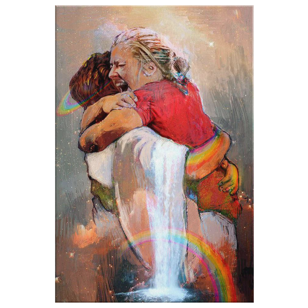First Day in Heaven - Hug Of God - Canvas Wall Art