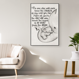 No One Else Will Ever Know the Strength of My Love for You Elephant Baby Mom Mothers Day Gifts Ideas For New Mother First Time Moms Wall Canvas Art