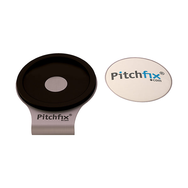 Black Pitchfix Hat and Cap Clip Golf ball marker