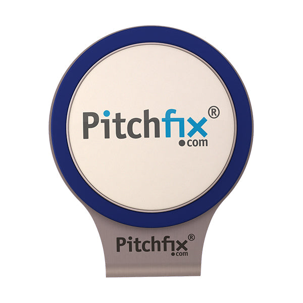 Blue Pitchfix Hat and Cap Clip Golf ball marker