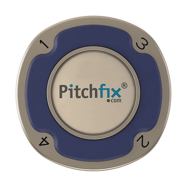 Blue Pitchfix Multimarker Chip Golf Ball Marker