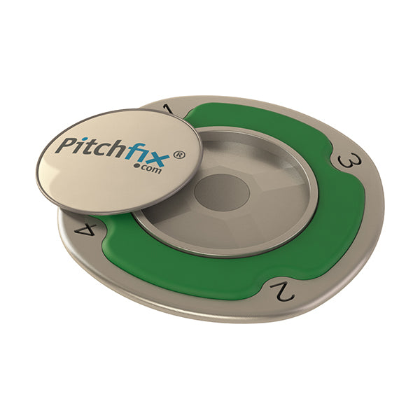 Green Pitchfix Multimarker Chip Golf Ball Marker