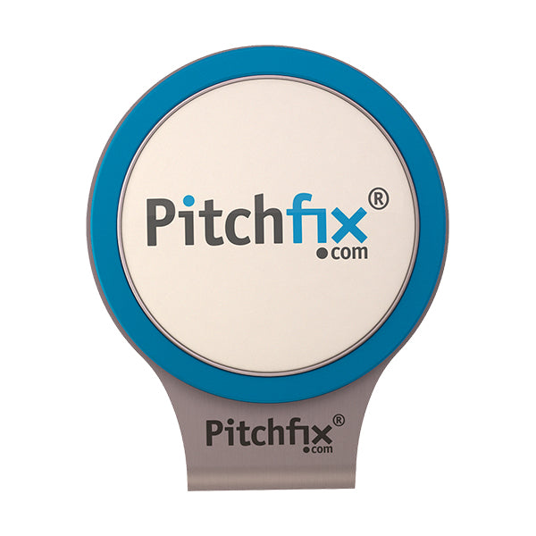 Light blue Pitchfix Hat and Cap Clip Golf ball marker