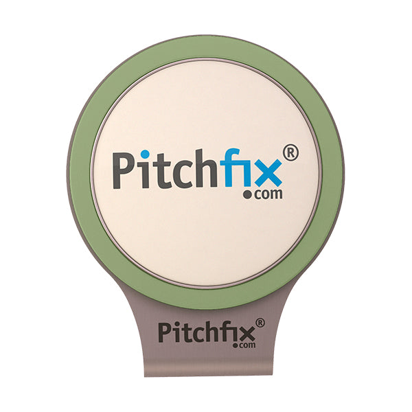 Light green Pitchfix Hat and Cap Clip Golf ball marker
