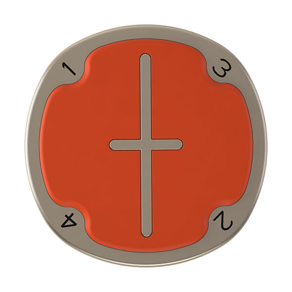 Orange Pitchfix Multimarker Chip Golf Ball Marker
