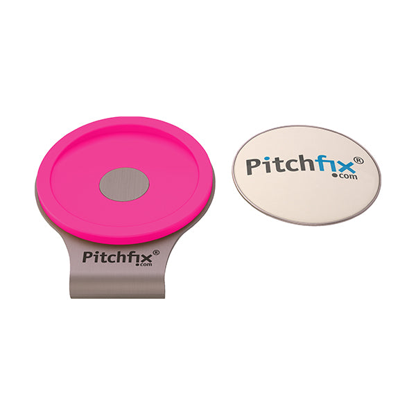 Flourescent Pink  Pitchfix Hat and Cap Clip Golf ball marker
