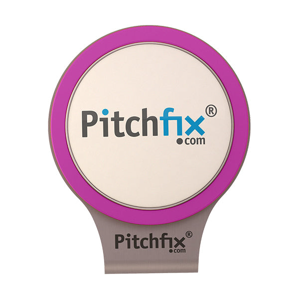Purple Pitchfix Hat and Cap Clip Golf ball marker