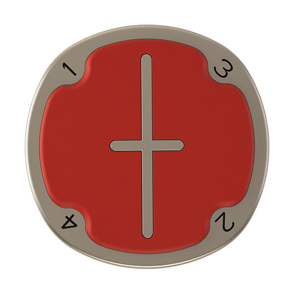 Red Pitchfix Multimarker Chip Golf Ball Marker