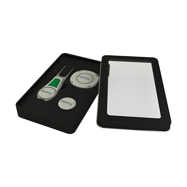 Window Golf Gift Tin with Tour Edition repair tool and Multimarker chip