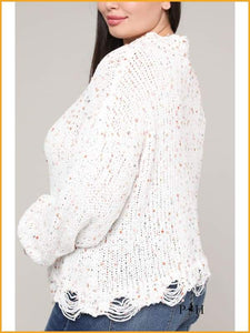 Short Confetti Sweater Beige Clothing