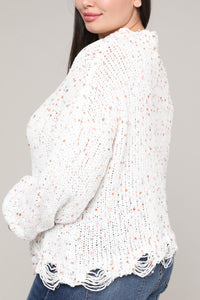 Short Confetti Sweater White Clothing