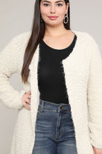 Load image into Gallery viewer, Extended Sizes Beige Open Cardigan - Oversized Clothing