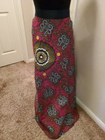 Womens African Print High Waist Full Skirt One Size Clothing