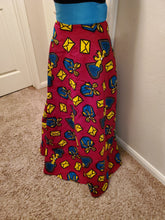Load image into Gallery viewer, Womens African Print High Waist Full Skirt Clothing