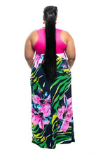 Load image into Gallery viewer, Extended Sizes Stripe Print Maxi Dress Clothing
