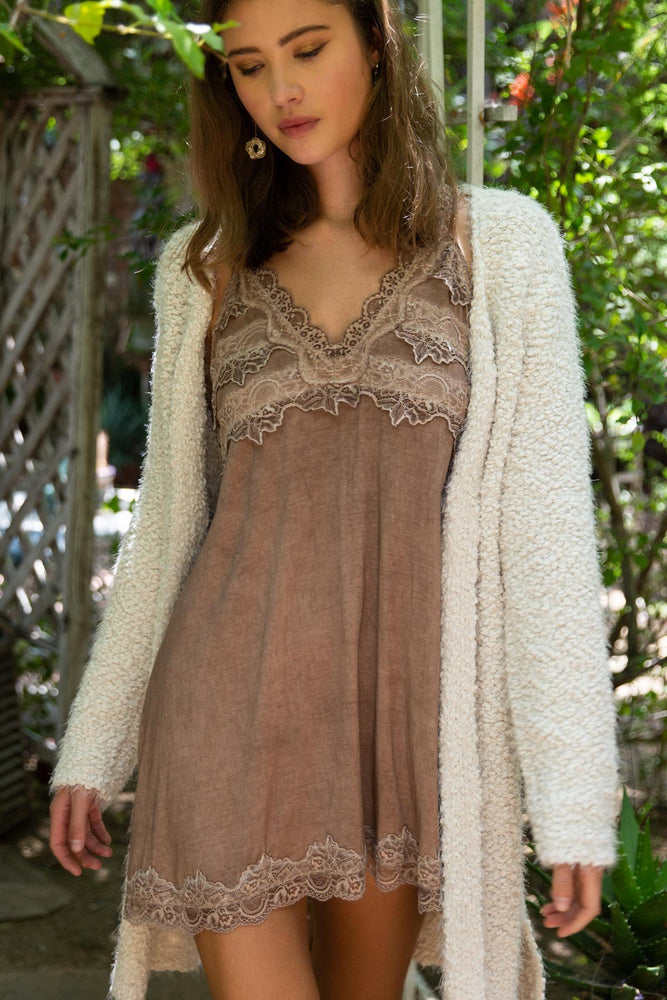 Alpaca Mohair Textured Open Cardigan Small Clothing