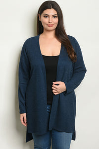 Navy Plus Size Cardigan Xl Clothing