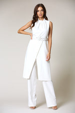 One Trendy Sheek and Classy White Pant Suit