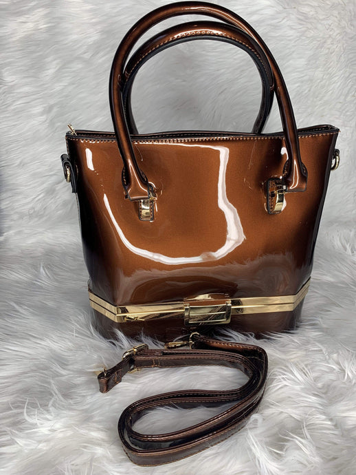 Brown Vegan Handbag With Strap Purses
