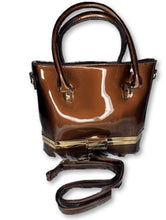 Load image into Gallery viewer, Brown Vegan Handbag With Strap Purses