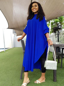Loose Plus Size Slit Sequins Long Sleeve Dress Clothing