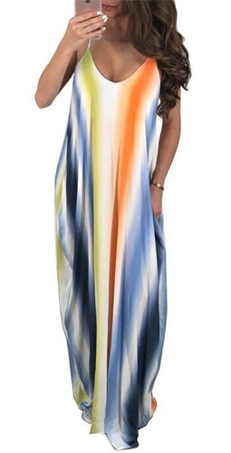 * Sling And Spoon-Neck Maxi Dress Large Clothing