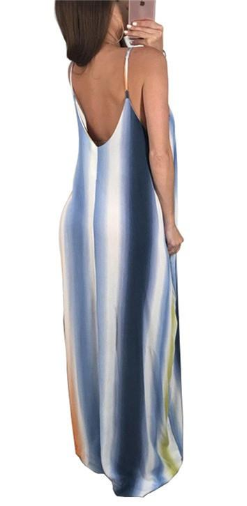 * Sling And Spoon-Neck Maxi Dress Clothing
