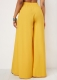 * Long Wide Pants With Butterfly Knot Yellow Clothing