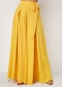 * Long Wide Pants With Butterfly Knot Yellow X Large Clothing