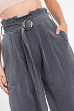 Load image into Gallery viewer, Solid Charcol Velveteen High Waist Pants - So Soft Clothing
