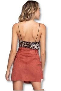 Faux Suede Skirt Clothing