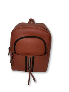 Brown Back Pack Hand Bag Purses