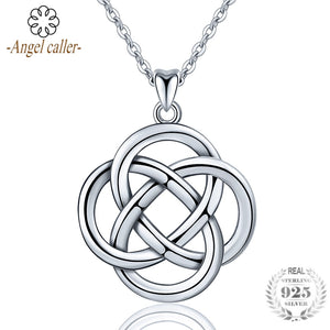 1bf5bd5c71b99 925 Sterling Silver Celtic Knot Necklace with Pendant