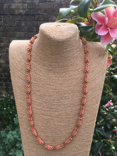 Kumi-bead necklace - Coral