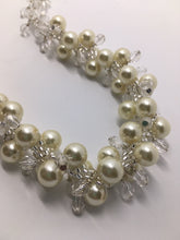 Pearl and Crystal swirl on white