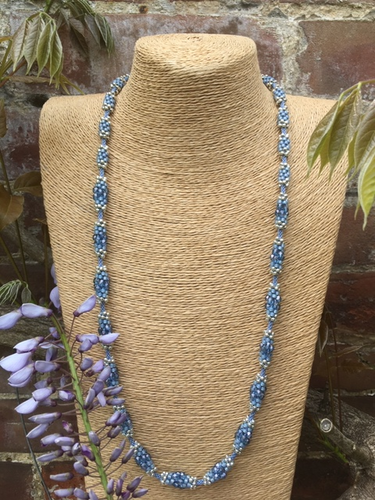 Blue Kumi-Bead necklace