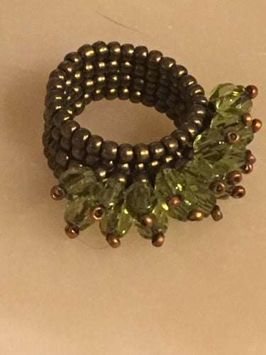 Crazy Green 'corona' ring