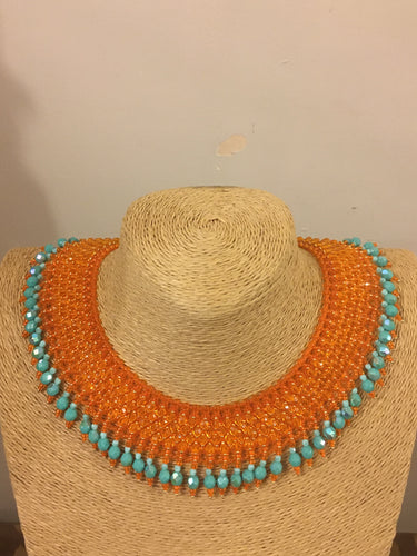 Orange and turquoise fringe