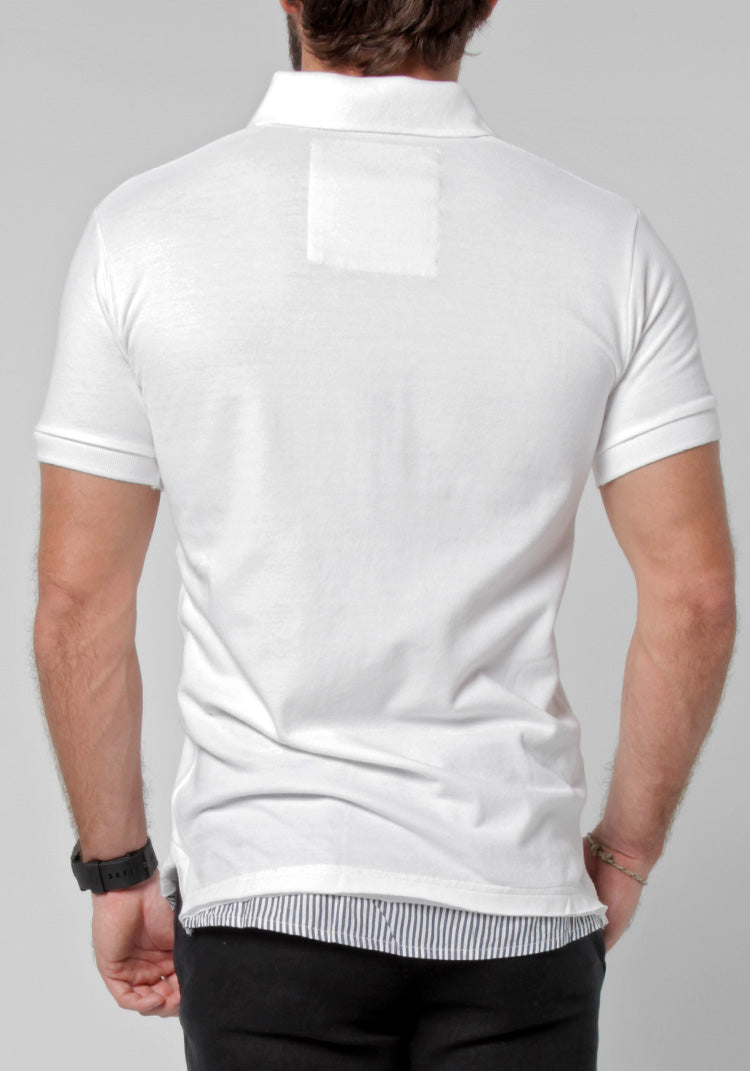 100% COTTON LAYERED POLO S to XXXL - Claudio Milano