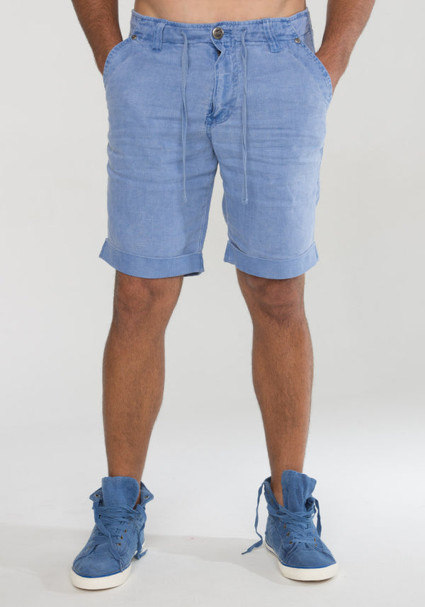 100% LINEN SHORT WITH DRAWSTRING