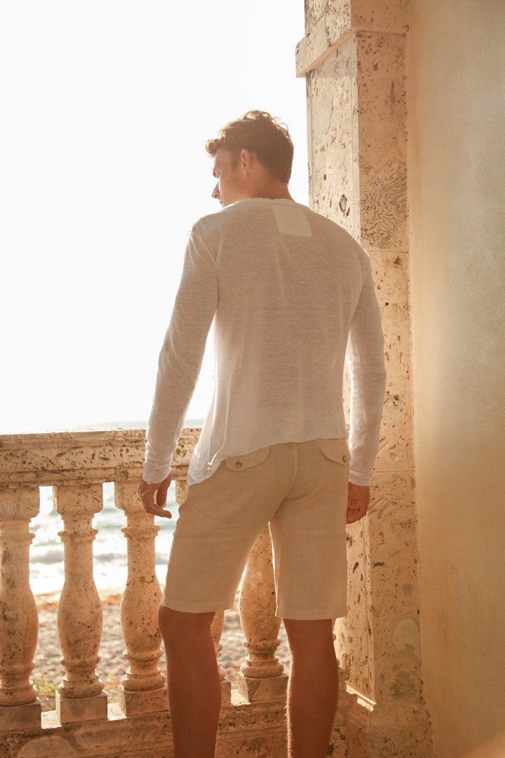 100% JERSEY LINEN LONG SLEEVES SLANTED