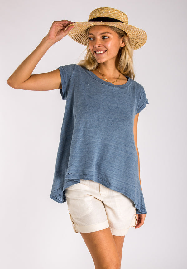 #8120 Linen women tops Jersey Linen fabric 100% Natural materials T-Shirt (Summer deal 50% Discount)