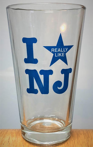 I Really Like NJ Pint Glass