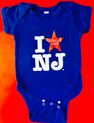 I Really Like NJ Blue Onesie -6m