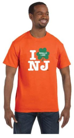 Irish I Really Like NJ T-Shirt Orange w/ Green