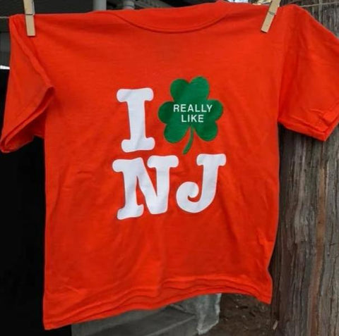 Kid's Irish I Really Like NJ T-Shirt - Orange